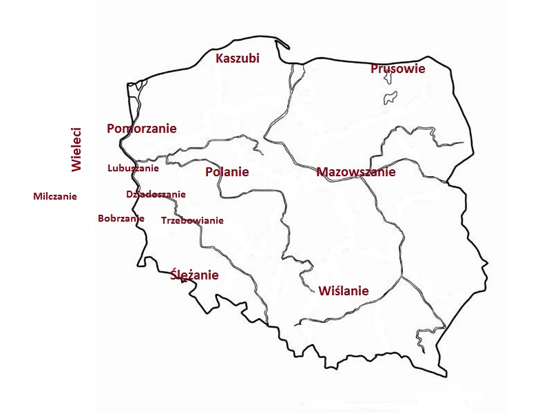 Mapa plemion na Ziemi Lubuskiej