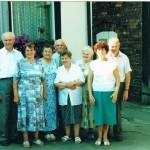 Od lewej brat Stanisław Laudański, Stanisława Mackiewicz, bratowa Barbara - żona Stanisława, szwagier Stanisław Pikuła, siostra Leokadia Łotyszonek, siostra Maria Pikuła, Bratowa Zofia - żona Jana, i (nieżyjący już) brat Jan Laudański