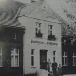 "Reinhold Petzke (Schiller) i utworzona restauracja ""Zur Hoffnung"" w Bródkach."