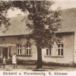 Dom piekarza Altmana na starej widokówce